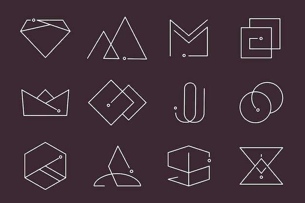Набор минимальных логотипов Бесплатные векторы