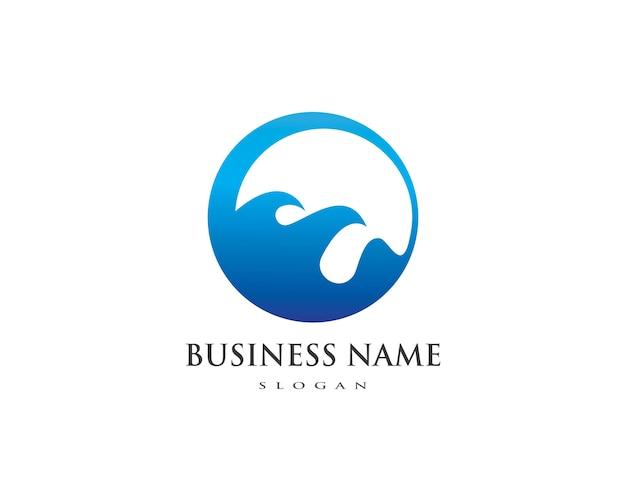 Шаблон логотипа воды Premium векторы
