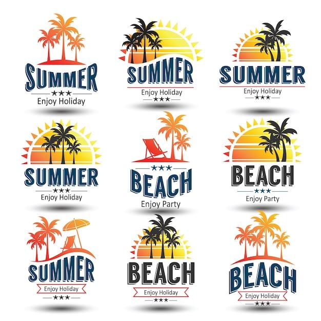 夏のラベル Premiumベクター