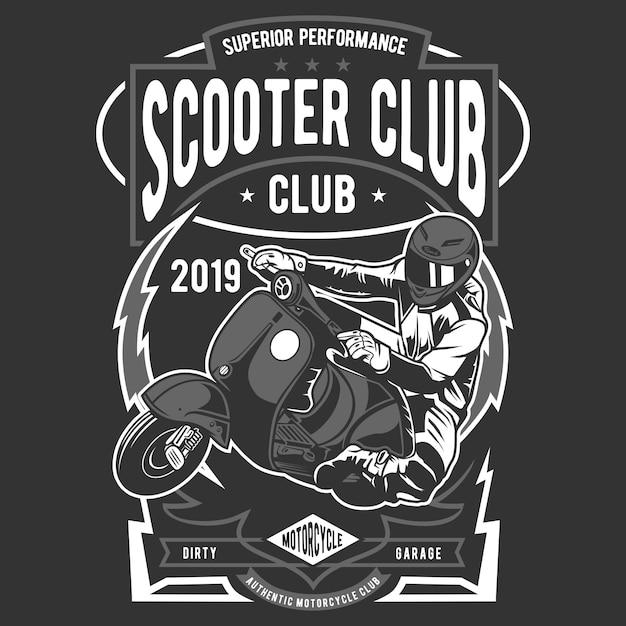 スクータークラブのバッジ Premiumベクター