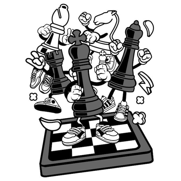 チェス Premiumベクター