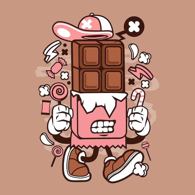 Картинки шоколада мультяшные