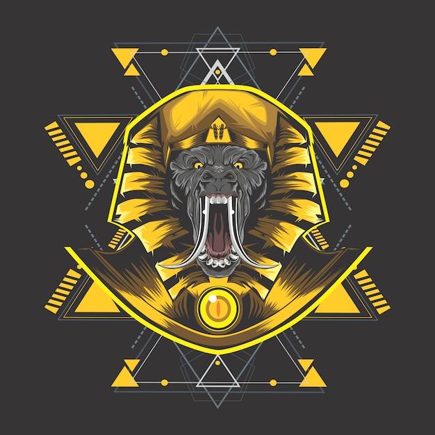 Золотой египет конг Premium векторы