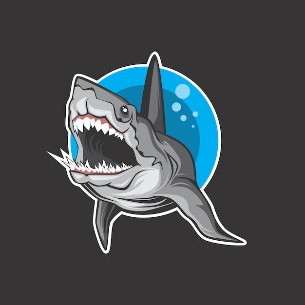 サメのロゴ Premiumベクター