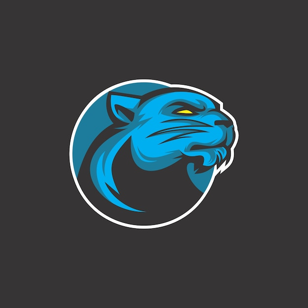 Логотип кота грома Premium векторы
