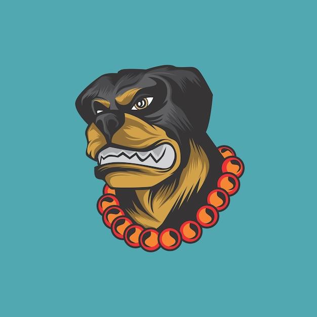 犬のロゴ Premiumベクター