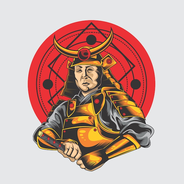 Великий самурай Premium векторы