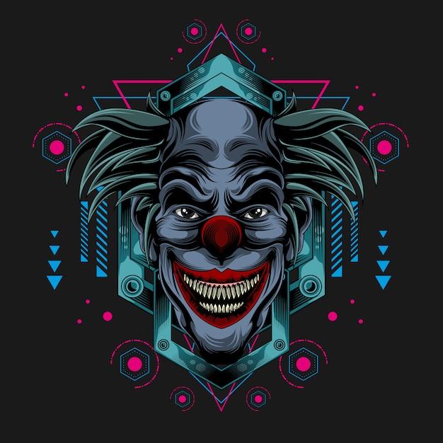 Классический темный клоун Premium векторы