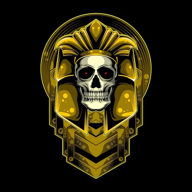 金と頭蓋骨 Premiumベクター