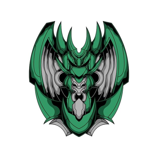 アイアンドラゴンのロゴ Premiumベクター