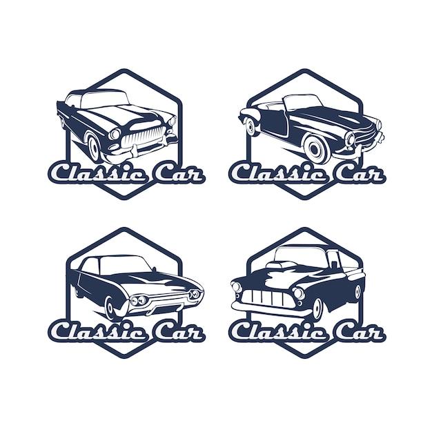 車のロゴセット Premiumベクター