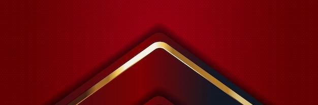 バナーの豪華な明るい色の背景 Premiumベクター