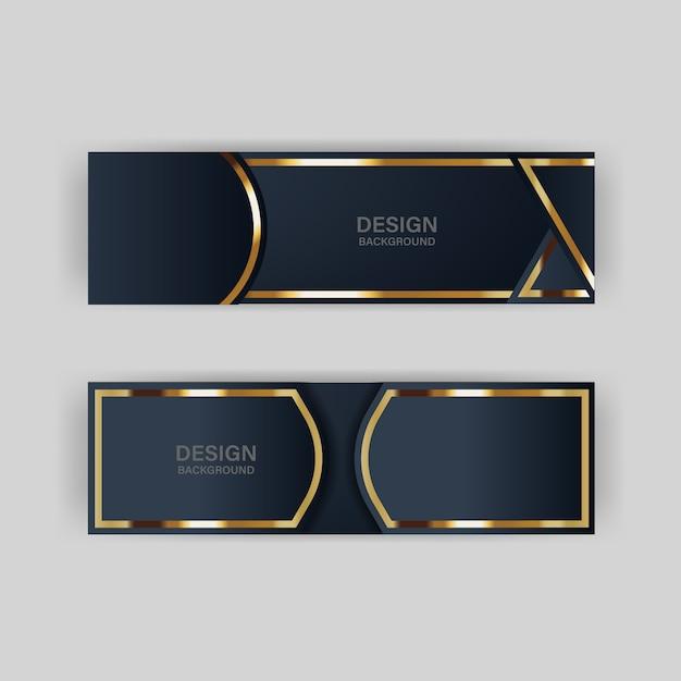 Блеск фоновый свет с абстрактным цветом современная технология баннер золото Premium векторы