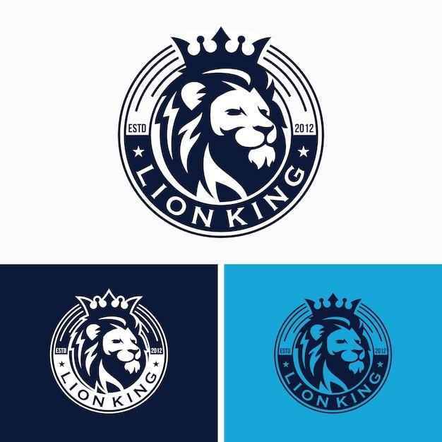 クリエイティブライオンのロゴのテンプレート Premiumベクター