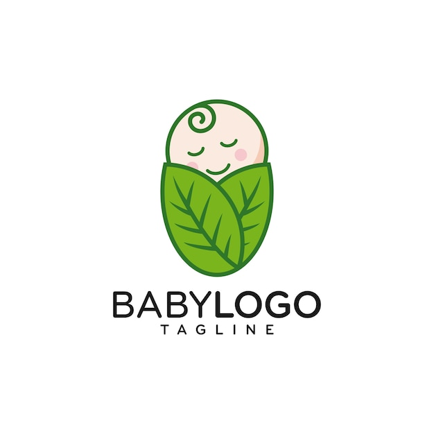 Милый ребенок логотип дизайн вектор Premium векторы