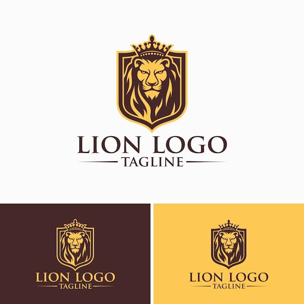 ライオンロゴ画像 Premiumベクター