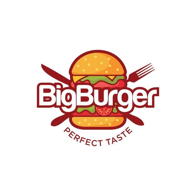 バーガーロゴ Premiumベクター