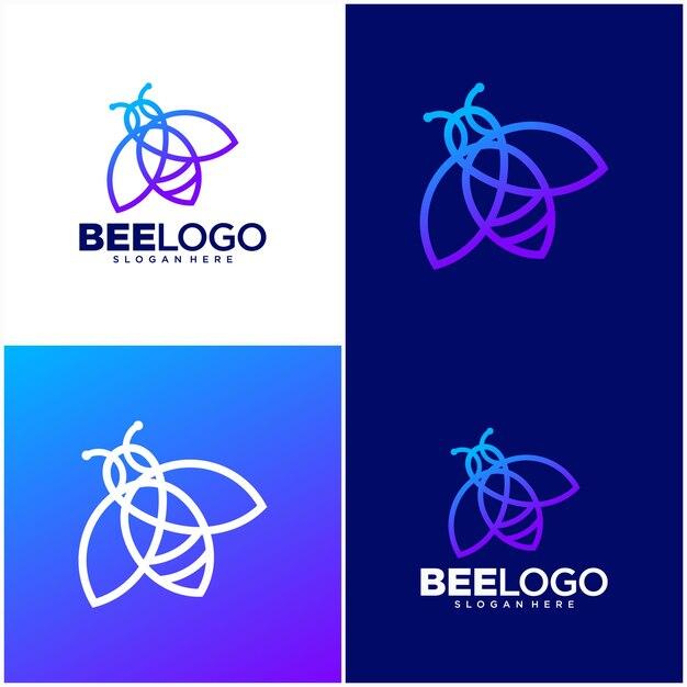 Шаблон логотипа би лайн Premium векторы