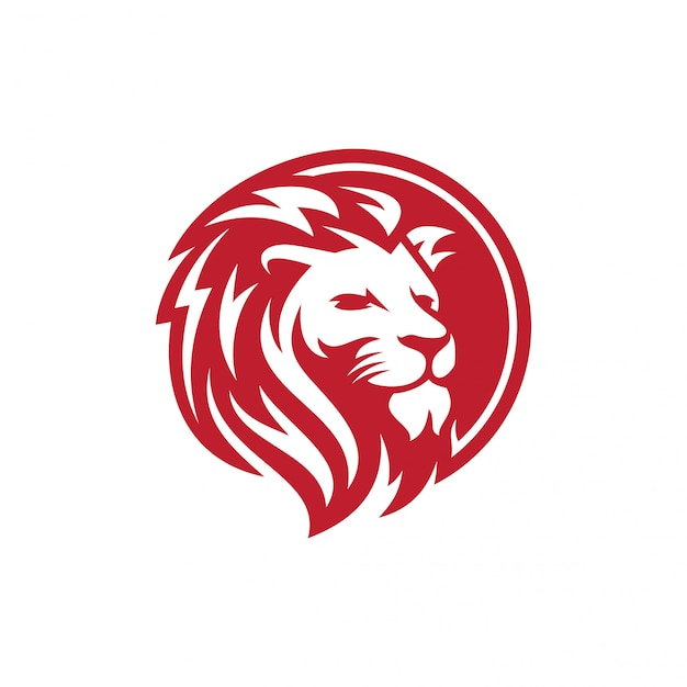 Лев логотип вектор шаблон Premium векторы