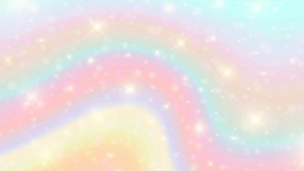 Акварель радуга боке фон. Premium векторы