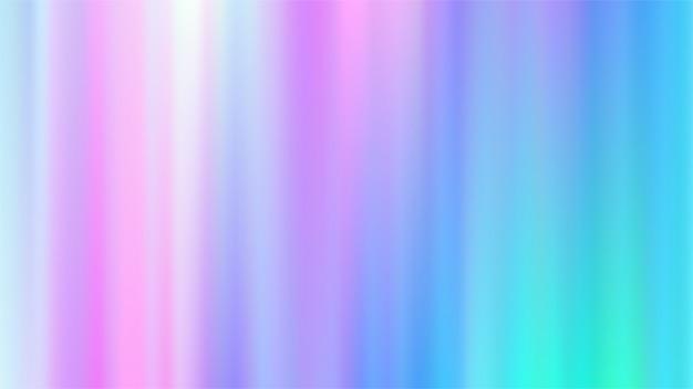 ホログラフィックグラデーションメッシュの背景。 Premiumベクター