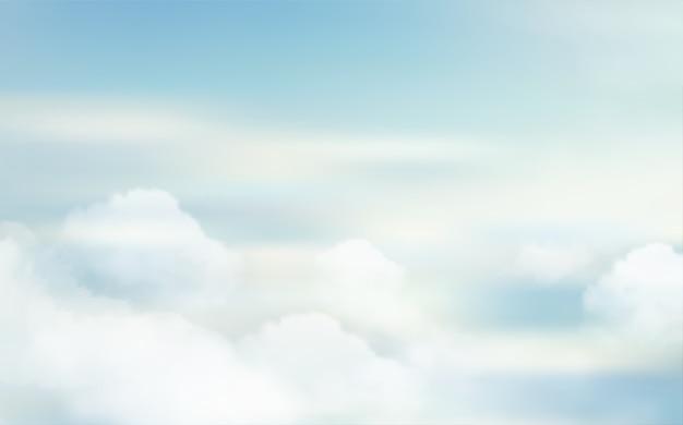 Небесный пейзаж природы Premium векторы