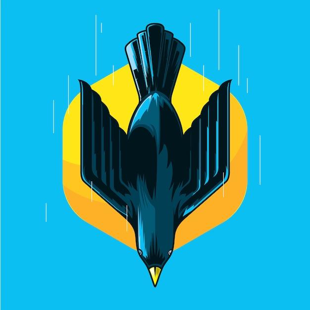 スピードイラスト飛ぶ鳥 Premiumベクター