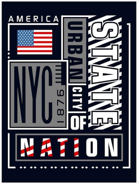 ニューヨークアートのタイポグラフィ、ベクトルグラフィックイラスト Premiumベクター