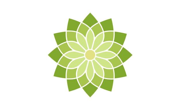 花柄のロゴデザイン Premiumベクター