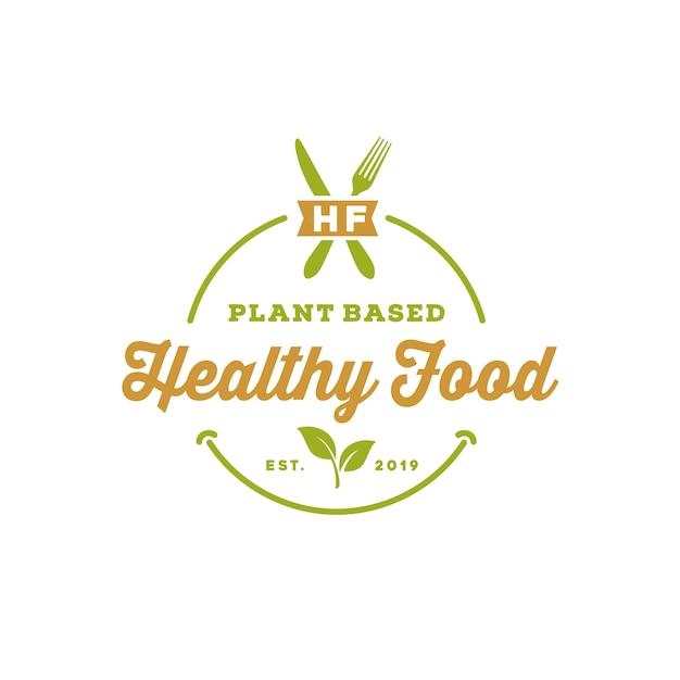 Винтажная органическая натуральная пища Premium векторы