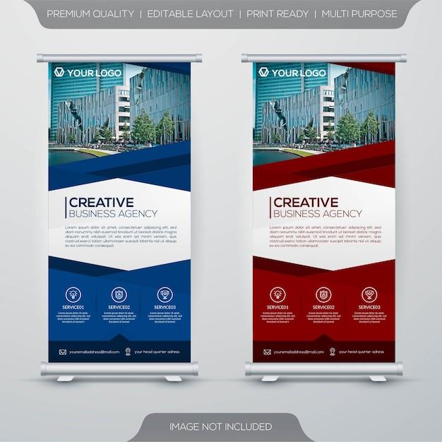 Шаблон бизнес-баннер Premium векторы