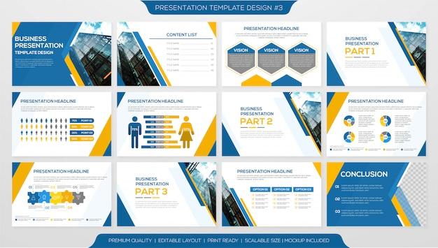 Минималистичный шаблон корпоративной презентации Premium векторы