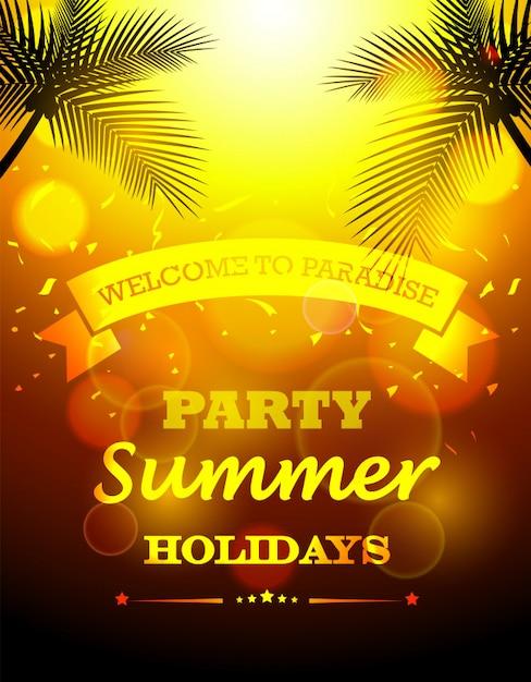 パーティーの夏休み Premiumベクター