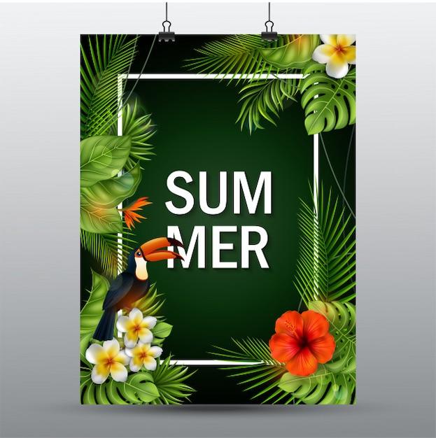 夏の販売のバナー。 Premiumベクター