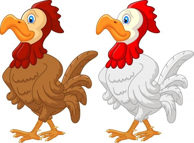 鶏の漫画 Premiumベクター