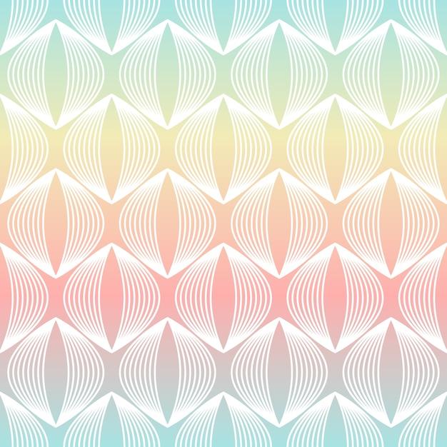 抽象的な幾何学的線のシームレスパターン Premiumベクター