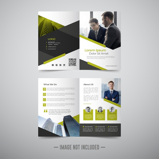 Шаблон оформления флаер брошюры Premium векторы