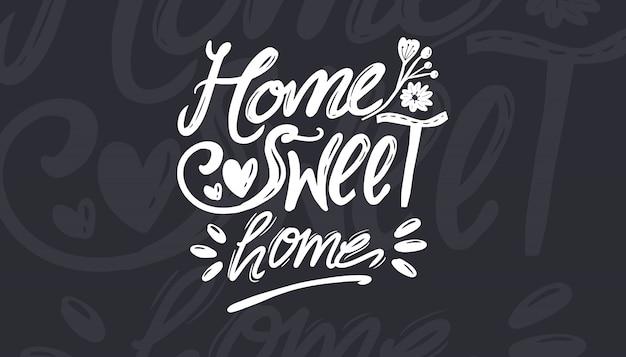 ホームスイートホームベクトルタイポグラフィセット印刷用コレクション Premiumベクター