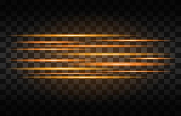 光ストリーク高速効果。抽象的な背景の速度。 Premiumベクター