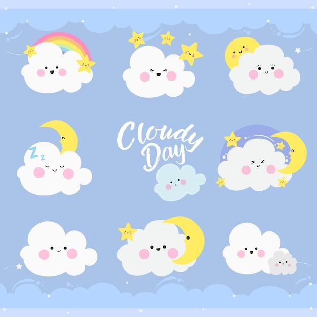 День фиолетового облака Premium векторы