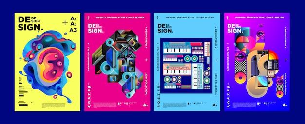 雑誌の表紙とポスターのデザインテンプレート Premiumベクター