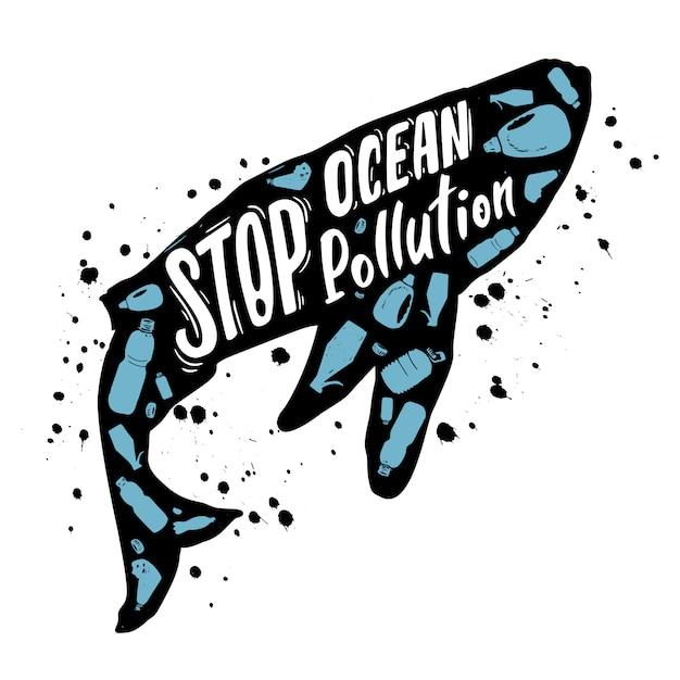 海洋汚染を止める Premiumベクター