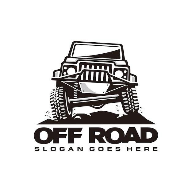 オフロード車のロゴテンプレート Premiumベクター