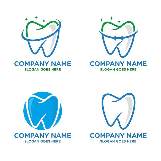歯科、歯科のロゴテンプレート Premiumベクター
