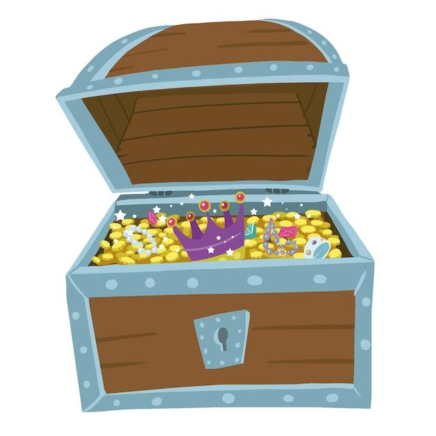 海賊の宝箱 Premiumベクター