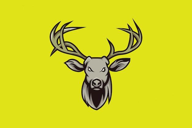鹿ロゴスポーツ Premiumベクター