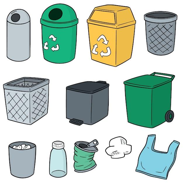 リサイクルゴミのベクトルセット Premiumベクター