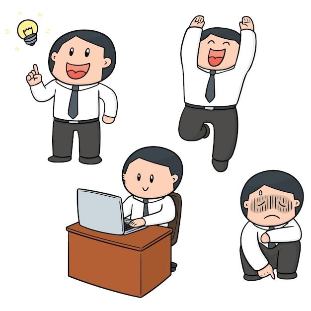 オフィスワーカーのベクトルセット Premiumベクター