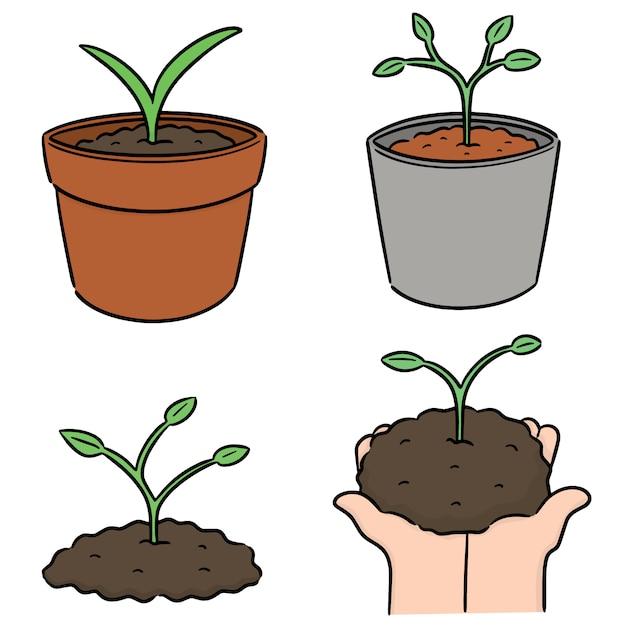 植木のベクトルセット Premiumベクター