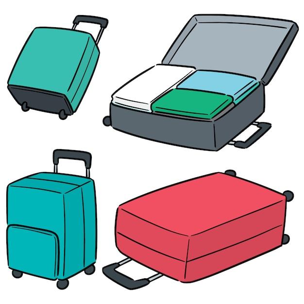 スーツケースのベクトルを設定 Premiumベクター